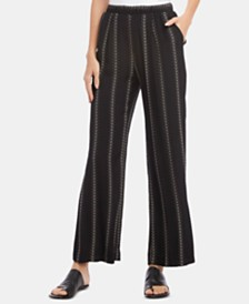 Karen Kane Printed Pull-On Wide-Leg Pants