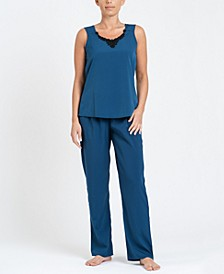 Women's Sleeveless Top and Ankle Length Pant Pajama Set