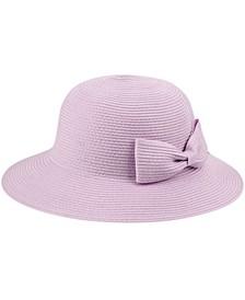 Angela & William Poly Braid Bucket Sun Hat with Ribbon
