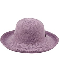 Wide Brim Sun Bucket Hat with Roll Up Edge