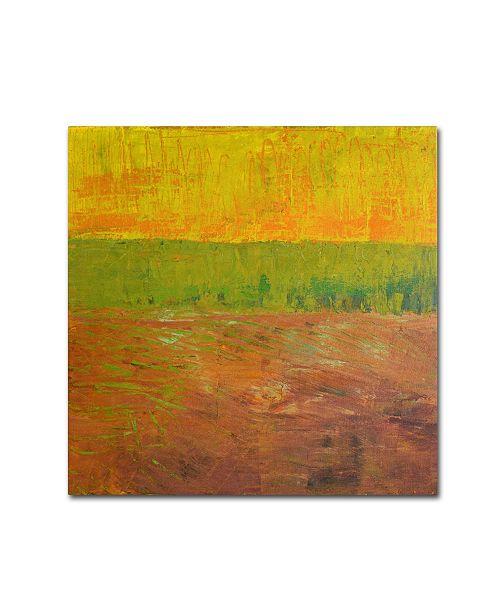 "Trademark Global Michelle Calkins 'Highway Series Soil' Canvas Art - 14"" x 14"""
