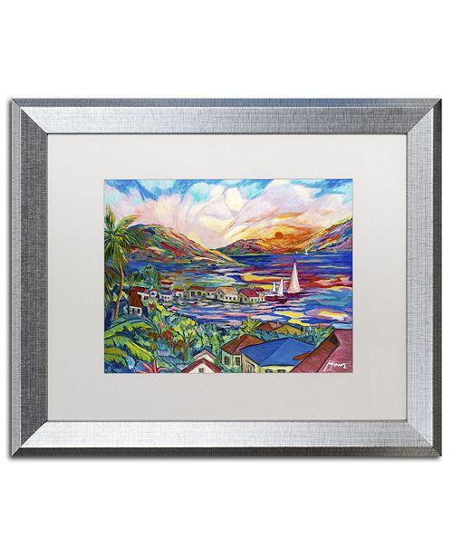 "Trademark Global Manor Shadian 'Sunset' Matted Framed Art - 16"" x 20"""