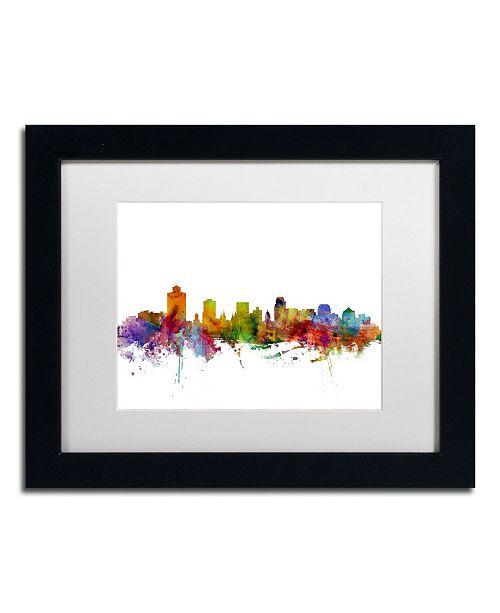 """Trademark Global Michael Tompsett 'Salt Lake City Skyline' Matted Framed Art - 11"""" x 14"""""""