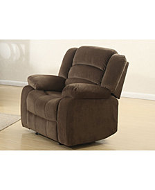 AC Pacific Bill Brown Fabric Upholstered Contemporary Living Room Reclining Chair