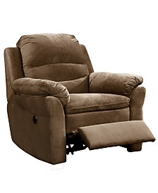 AC Pacific Felix Contemporary Style Fabric Upholstered Living Room Electric Recliner Power Chair