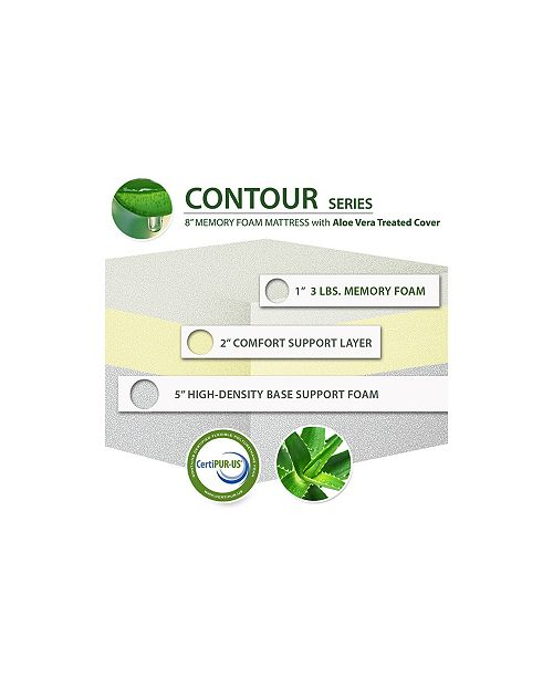 Ac Pacific Soft Aloe Vera Queen 8 Quot Memory Foam Mattress