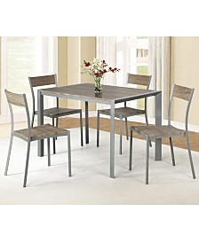 AC Pacific 5 Piece Dining Table Set