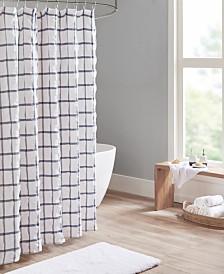 Madison Park Kinney Printed Seersucker Shower Curtain