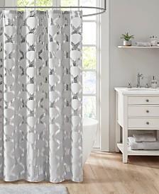 Intelligent Design Lorna Metallic Scallop Shower Curtain