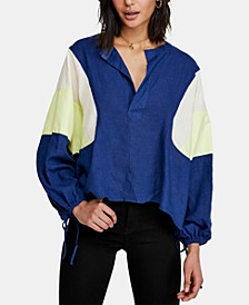 Beating Hearts Colorblocked Drawstring Top