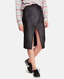 Free People Whitney Faux-Leather Pencil Skirt