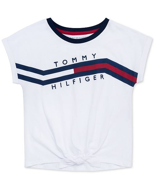 Tommy Hilfiger Big Girls Logo Print T Shirt & Reviews Shirts