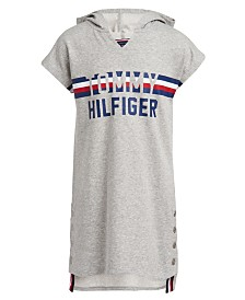 Tommy Hilfiger Big Girls Hooded Sweatshirt Dress