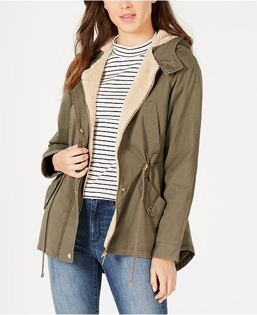 Collection B Juniors' Hooded Anorak Jacket, Created for Macy's