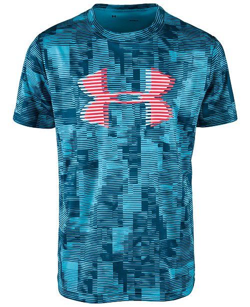 Under Armour Big Boys Printed Logo-Print T-Shirt