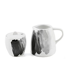 CLOSEOUT! Espresso Ceramic Cream & Sugar Set