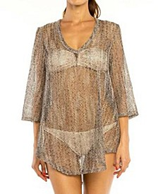 Jordan Taylor Shale Bell Sleeve Tunic Cover up