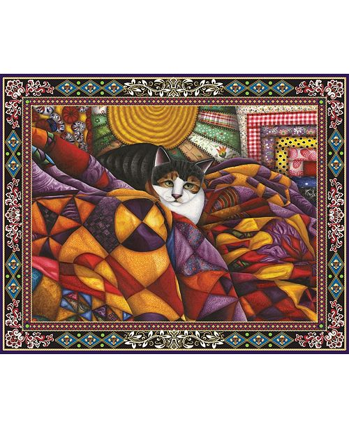 Springbok Puzzles Quilted Cat 1000 Piece Jigsaw Puzzle