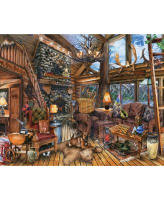 1000 Pieces Springbok Moon Cabin Retreat Jigsaw Puzzle