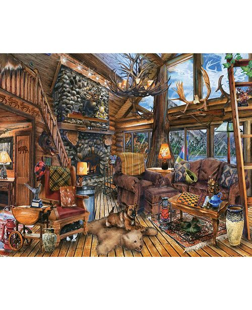 Springbok Puzzles The Hunting Lodge 1000 Piece Jigsaw Puzzle