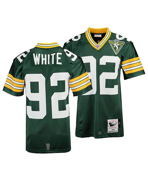 timeless design 330e9 8731e Men's Reggie White Green Bay Packers Authentic Football Jersey