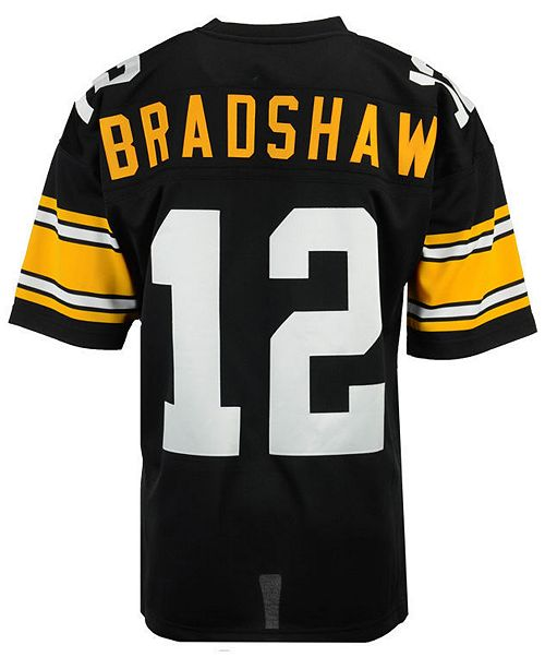 online store 5eb92 afff4 Men's Terry Bradshaw Pittsburgh Steelers Authentic Football Jersey