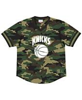 19924c743 Mitchell   Ness Men s New York Knicks Camo Mesh V-Neck Jersey Top