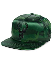 New Era Milwaukee Bucks Satin Camo 9FIFTY Cap