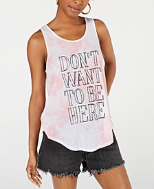 Juniors' Don't Want To Be Here Graphic Tank Top