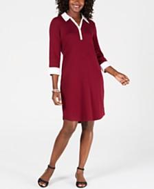 Karen Scott Cotton Collared Dress, Created for Macy's
