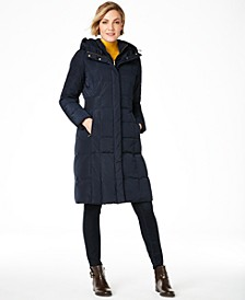 Box-Quilt Down Puffer Coat