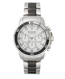 Versus Men's Two Tone Silver And Black  Bracelet Watch 22mm