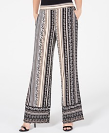 BCX Juniors' Multi-Print Wide-Leg Pants