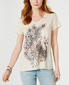 Graphic Step-Hem Top, Created for Macy's