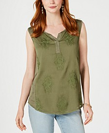 Embroidered Tank Top, Created for Macy's