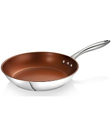 "Ozeri 12"" Stainless Steel Earth Pan PTFE-Free Restaurant Edition"
