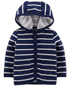 Baby Boys Striped Fleece Hoodie