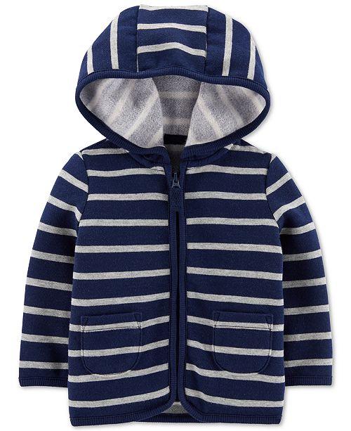 Carter's Baby Boys Striped Fleece Hoodie