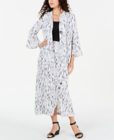 JM Collection Textured Printed Jacket & Skirt, Created for Macy's