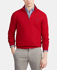 Men's Cotton Quarter-Zip Sweater
