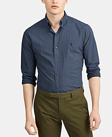 Men's Classic Fit Stretch Poplin Button-Down Shirt