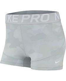 Nike Pro Camo-Print Training Shorts