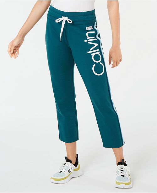 Calvin Klein High-Waist Ombré-Stripe Ankle Pants