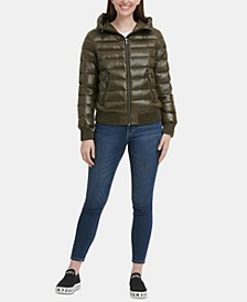 Packable Hooded Bomber Down Puffer Coat