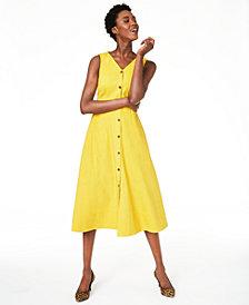 Alfani Petite Button-Through Midi Dress, Created for Macy's