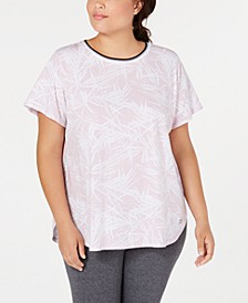 Plus Size Printed Cap-Sleeve T-Shirt