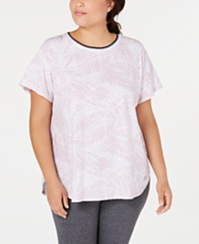 Calvin Klein Performance Plus Size Printed Cap-Sleeve T-Shirt