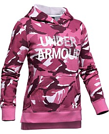 Under Armour Girls' Rival Fleece Wordmark Hoodie