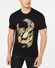 INC Men's Foil Skull T-Shirt, Created for Macy's