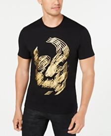 I.N.C. Men's Foil Skull T-Shirt, Created for Macy's